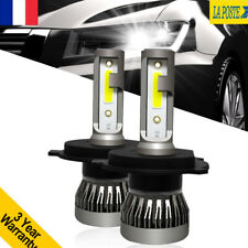 2X 3030 24000LM H4 LED Ampoule Voiture Feux Phare Lampe Remplacer HID Xénon