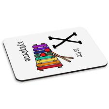 Lettera X è per Xilofono PC Computer Tappetino Mouse Pad-Alfabeto Music