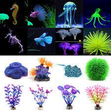 Aquarium Fish Tank Landscap Artificial Silicone Simulation Animal Plant Ornament