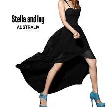 womens black cocktail party evening maxi skirt mini dress size 8 au new