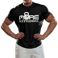 More KettleBell T shirt Workout Fitness Gym Wear Top Tshirt Distressed Print
