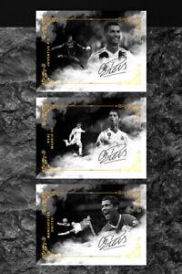 Cristiano Ronaldo GOAT Manchester, Madrid, Juventus Unbranded Soccer Gold Set