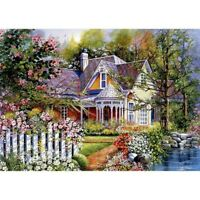 Full Drill Diamond Painting Garden House Embroidery Cross Stitch DIY Art Decors
