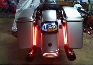 2x Harley Davidson LED Fender Brake Tail Light Turn Signal Bar Turbo Bagger FXR