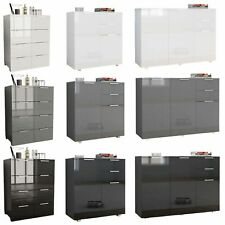 High Gloss Sideboard TV Unit 8 Drawer Chest 3 Door Cabinet Cupboard Storage Unit