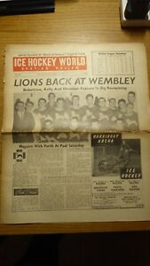 Ice Hockey World Newspaper 5 Issues from 1950's