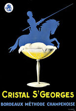 Art Ad Cristal St  Georges Champagne Deco Poster Print