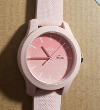 Lacoste 2000988 Watch With 38mm Pink Face & Light Pink Silicone Band.