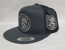Chihuahua Mex Hat Mesh Trucker Dark Grey Snap Back Adjustab New. Logo Grey