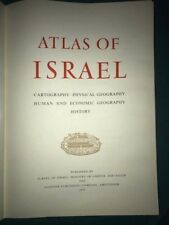 Atlas Of Israel-Cartography,Physical Geography, Human Economic Geography History