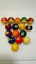 Vintage Pool Table Balls Complete Set of 16 Billiard Estate Find