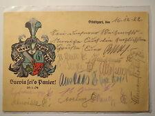 Stuttgart - Esslingen - Verbindung Suevia - 1922 - Wappen /  Studentika