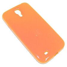 custodia in silicone arancione antiurto per SAMSUNG GALAXY i9500 i9505 S4 cover