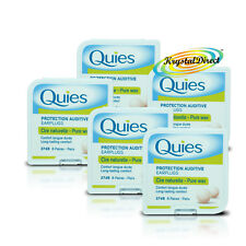 5x Quies Pure Natural Wax Ear Plugs