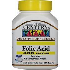 Folic Acid 400 mcg - 250 Tablets by 21st Century EXPIRE 11/2017