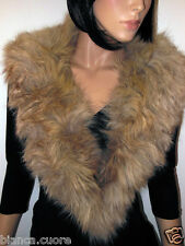 COLLO VOLPE Pelliccia beige GRANDE Stola FOX fur collar stola ENTRA E0522