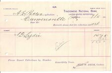 1890 TRADESMENS NATIONAL BANK Pittsburgh ROSS W. DRUM Curwensville PENNSYLVANIA