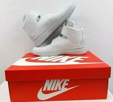 NIB Nike Marxman PRM 832766-001 Men 12 M Gray Leather Hi Top Basketball Sneakers