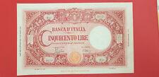 Banconota - LIRE 500 - GRANDE C - 08.10.1943 - H23 047101 - Q.FDS - CERTIFICATA