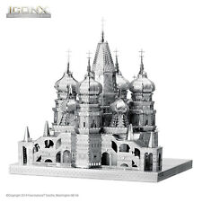 Fascinations ICONX RUSSIA SAINT BASIL CATHEDRAL 3D Steel Metal Earth Model Kit
