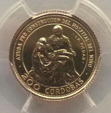 Nicaragua 1975 Pieta By Michelangelo 200 Cordobas PCGS MS69 Gold Coin,BU