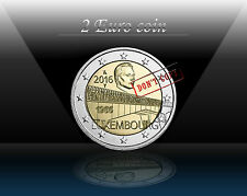 "LUXEMBOURG 2 EURO 2016 "" BRIDGE - Grand Duchess Charlotte ""  Commem. Coin *UNC"