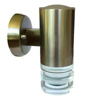 Round modern stainless steel and Glass LED outdoor wall light