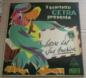 """QUARTETTO CETRA LETTERE DAL SUD AMERICA RARO 10""""LP CETRA 1955"""
