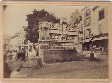 Fontaine Louis XII Blois France Vintage albumine vers 1885
