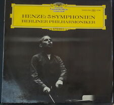 DGG 139 203/204 ED 1 GERMAN HENZE - 5 SYMPHONIEN BERLINER PHILHARMONIKER 1966