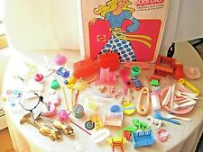 vintage lot of Barbie accessories and Barbie case ,