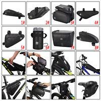 SAHOO Bike Bicycle Saddle Bag Waterproof Water Bottle Bag Cycling Tail Bag Black