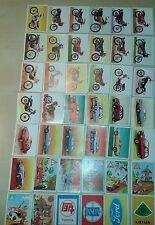 LOTES DE 30 CROMOS. CARDS. STICKERS. A TODO GAS. EDITORIAL MAGA. 1982