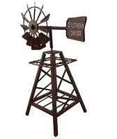Metal Windmill Rustic Art Rust Sculpture Ornament Home Garden Décor *31 cm*