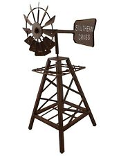 Metal Windmill Rustic Art Rust Sculpture Ornament Home Garden Décor *31 cm*