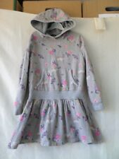 George Grey Floral with Butterfly Print Hood Drop Waist Dress Size 8-9 Years