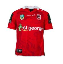 St George ILL Dragons NRL ISC Away Red Dragon Jersey Adults & Kids Sizes! T6