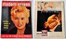 1956 U.S. MODERN SCREEN MAGAZINE Marilyn Monroe Vol. 50 No. 11