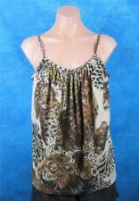 Supre, Size Medium, Womans Leopard & Lion Strappy Top