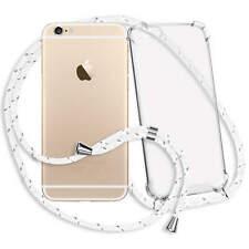 Funda Protectora con Cadena para Apple iPhone 6 (4.7'') - blanco-gris