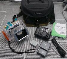 Canon PowerShot G12 Camera & Original Canon WP-DC34 Underwater Housing