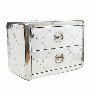 Aviator Small Cabinet with 2 drawer