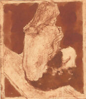 Ronald Olley (b.1923) - c. 2000 Etching, Seated Nude in Profile