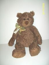 Gund Berkly Bear Plush #15150 Brown With Bow 17""