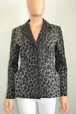 Christian Dior Black/Grey Leopard Print Cotton/Denim Blazer/Jacket F 38/US 6