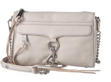 e0919f9ffac6 Rebecca Minkoff женская кожаная мини-Mac сумка через плечо цвет замазка