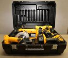 DeWalt 18 v combo kit DW4PAK-2 drill circular saw & reciprocating light case lot