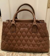 Vera Bradley Quilted Emma Tote LEATHER Handbag Cognac Bag Purse NWT