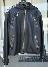 Route 66 Men's Leather Motorcycle Jacket SIZE L  HIGHWAY LEATHERS