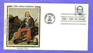 "1985 Sc #1863 22c John J. Audubon - Naturalist Colorano ""Silk"" FDC"